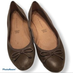 FIFTH AVENUE genuine leather ballet flats